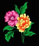 Blommadesign 2 Vektor Illustrationer