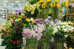 Blommadetaljisten shoppar royaltyfria foton