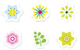 blommaetiketter Arkivbilder