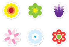 blommaetiketter Royaltyfri Fotografi