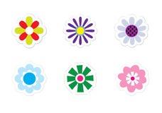 blommaetiketter Royaltyfri Foto