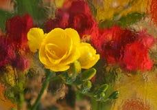blommaexponeringsglas Arkivfoto