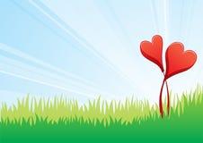 blommaförälskelse royaltyfri illustrationer