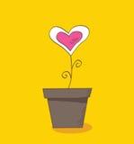 blommaförälskelse stock illustrationer