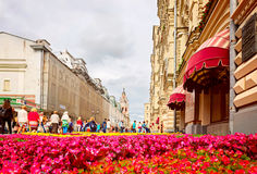 Blommafestival i Moskva Juli 8 2016 Zum Arkivfoto