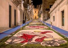 Blommafestivalen av Noto i Sicilien royaltyfria bilder