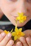 blommafjäder Royaltyfri Fotografi