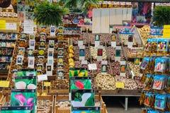 Blommafrö shoppar i mitten av Amsterdam, Nederländerna Royaltyfri Bild