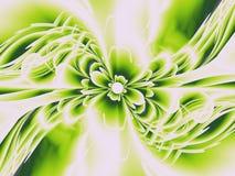 blommafractalgreen Royaltyfri Bild