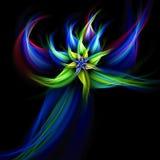 blommafractalstjärna royaltyfri illustrationer