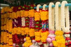 Blommagirland som ska bes Arkivfoton