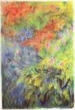 blommagräsmålning Arkivfoton