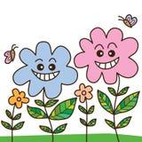 Blommagranne vektor illustrationer