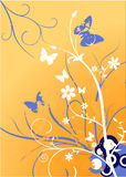 blommagrungeprydnad Royaltyfri Fotografi