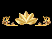 blommaguldlotusblomma royaltyfri illustrationer
