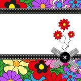 Blommahälsningkort Royaltyfria Bilder