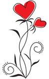 Blommahjärta stock illustrationer