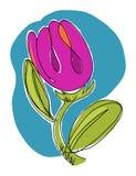 blommaillustration Royaltyfria Foton