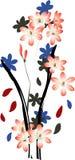 blommaillustration Arkivfoto