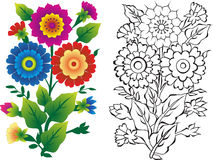 blommaillustrationer royaltyfria bilder