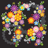 blommaillustrationfjäder Royaltyfri Bild
