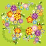 blommaillustrationfjäder Fotografering för Bildbyråer