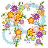 blommaillustrationfjäder Arkivbilder