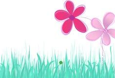 blommaillustrationfjäder stock illustrationer