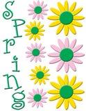 blommaillustrationfjäder royaltyfri illustrationer