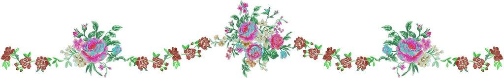 blommaillustrationmodell i enkel bakgrund royaltyfri illustrationer