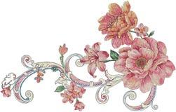blommaillustrationmodell i enkel bakgrund vektor illustrationer