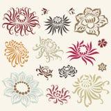 blommaillustrationvektor Royaltyfria Bilder