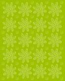 Blommaintryck Olive Green Arkivbild