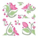 blommakaraktärsteckningar Royaltyfri Foto