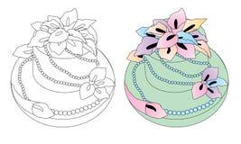 Blommakrämkaka vektor illustrationer