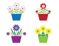 blommakrukar Fotografering för Bildbyråer