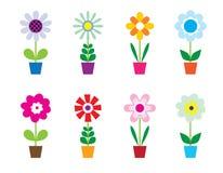 blommakrukar Arkivbild