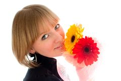 blommakvinna Arkivbilder