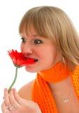 blommakvinna Fotografering för Bildbyråer