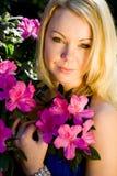 blommakvinna Arkivfoto