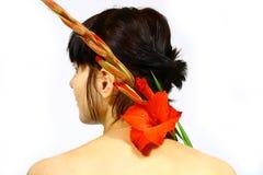 blommakvinnor Royaltyfria Bilder