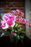 Blommalilor i vasen royaltyfri fotografi