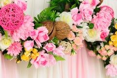 blommalinje bröllop arkivbilder