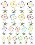 blommalogo Royaltyfri Bild