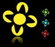 blommalogostjärna Arkivfoton