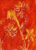 blommamålning royaltyfri illustrationer