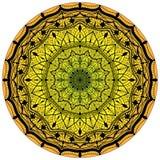 Blommamandalas dekorativ elementtappning Orientalisk modell, illustration Royaltyfria Bilder