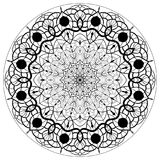 Blommamandalas dekorativ elementtappning Orientalisk modell, vektorillustration Royaltyfri Bild
