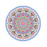 Blommamandalas Orientalisk dekorativ modellillustration Islam arabiska, indier, turk, Pakistan, kines, ottomanmotiv royaltyfri illustrationer