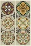BlommaMandalas - traditionellt utsmyckat Arkivbild